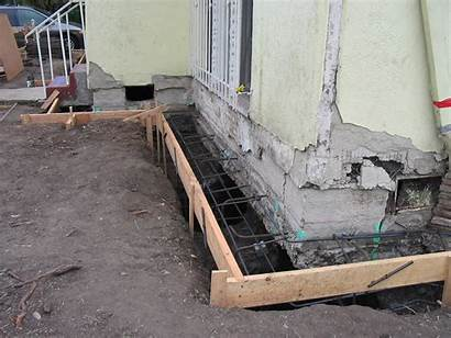 Foundation Underpinning Repair Wall Construction Bad Building