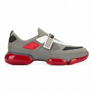 Dolce And Gabbana Belt Size Chart Prada Men 39 S Gray And Red Cloudburst Low Top Sneakers