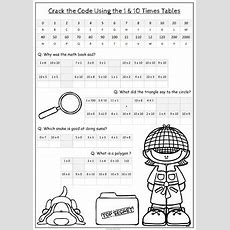 Times Tables Crack The Code Activity 010 X Tables By Cazziethetutor