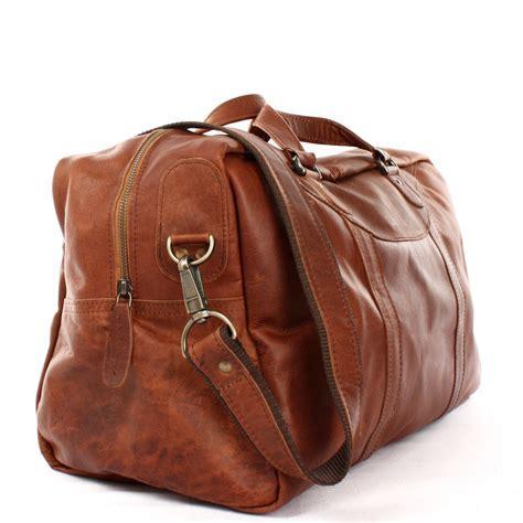 LECONI kleine Reisetasche Leder braun LE2009