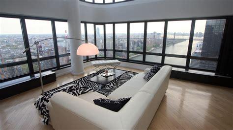 york city couch indoors interior loft wallpaper