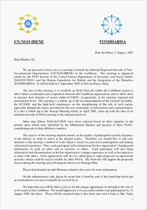invitation letter informal qgfcs fresh invitation letter