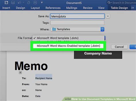 ways   document templates  microsoft word wikihow