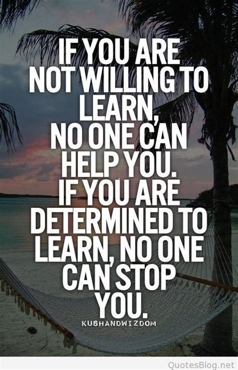 If You Are Not Willing To Learn Quote