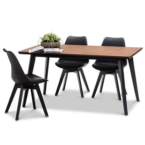 chaise noir et bois chaise helsinki noir pieds bois lot de 2 chaise design