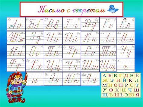 russian cursive handwriting template penmanshippractice