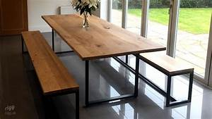 Loop, Dining, Table, U0026, Benches, Oak