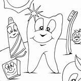 Teeth Coloring Dental Dentist Colouring Sheets Health Month Hygiene Doctor Cavities Dentistry Myfreecolouringpages sketch template