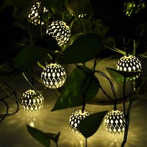 Globe solar power string lights for outdoor garden party for Garden string lights