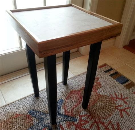 wooden table with tile top wood table with tile top by floridaart lumberjocks com