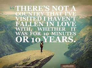 On Falling in L... Love Travel Quotes