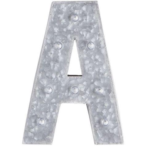pier  imports gray led monogram letter metal monogram letters monogram letters grey home decor