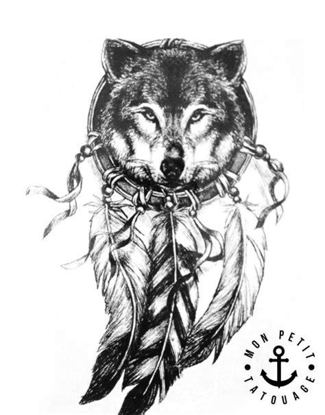 tatouage loup  attrape reves mon petit tatouage temporaire