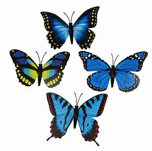Schmetterlinge Als Deko : deko schmetterlinge papier blau mit clip 8 cm eur 0 99 ~ Lizthompson.info Haus und Dekorationen