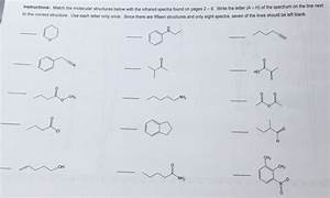 Solved  Instructions  Match The Molecular Structures Below