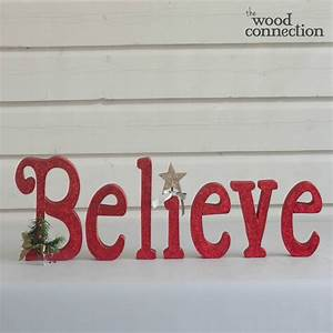 christmas believe wood letter set christmas pinterest With christmas wooden letters