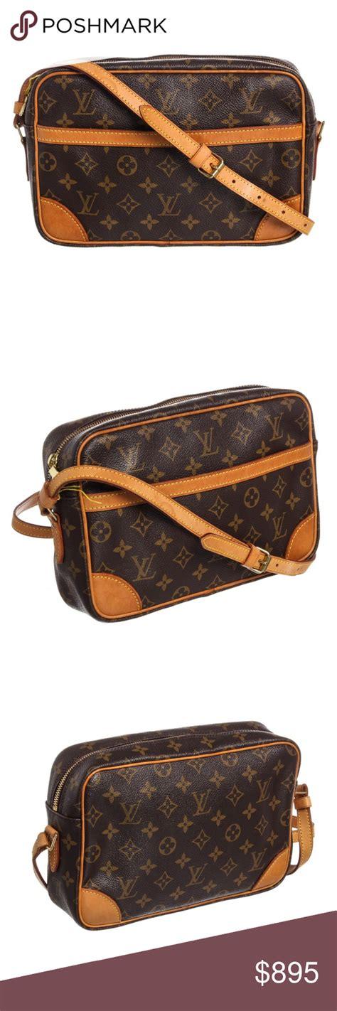 louis vuitton leather trotteur crossbody bag brown  tan