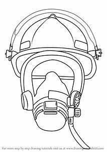 Learn How To Draw Firefighter Mask Tools Step By Step