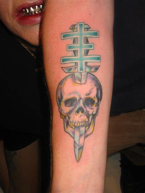 psychictv cross  skull tattoo picture