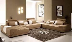 The, Interior, Of, A, Living, Room, In, Brown, Color, Features, Photos, Of, Interior, Examples