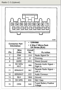 Chevrolet Radio Wiring Diagram