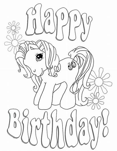 Birthday Coloring Happy Pages Aunt Printable Getcolorings