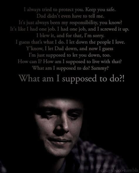 Dean Quotes Best Dean Winchester Quotes Quotesgram