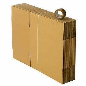 Carton De Déménagement Gratuit : kit d m nagement 20 cartons avec 1 rouleau adh sif gratuit ~ Premium-room.com Idées de Décoration