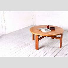 Midcentury Round Danish Coffee Table For Sale At Pamono