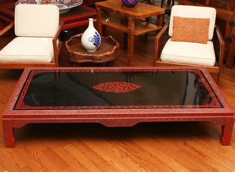 Japanese Lacquer Coffee Table  Naga Antiques