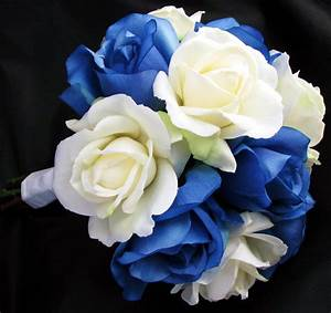 Blue And White Roses Wedding Bouquet | www.pixshark.com ...