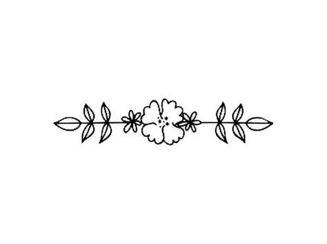 flower black divider vine handdrawn artsy art
