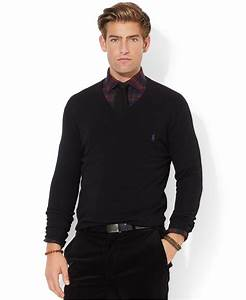 Polo V : polo ralph lauren loryelle merino wool v neck sweater in black for men lyst ~ Gottalentnigeria.com Avis de Voitures