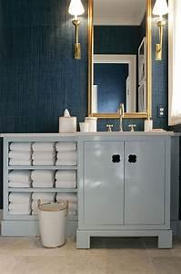 Blue bathroom vanity jamie drake simplified bee for Drakes bathrooms