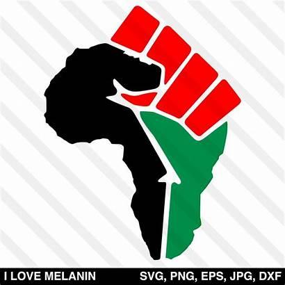 Fist Svg African Power Africa Silhouette Cricut