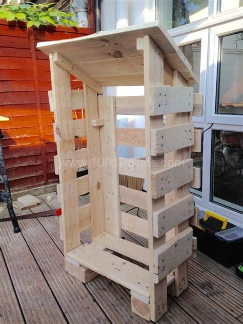 small log store  pallet wood pallet shed log shed