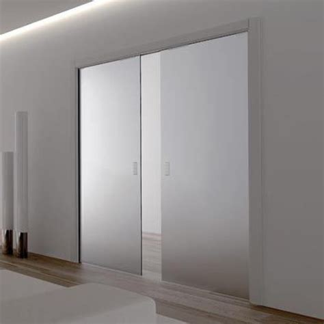 glass sliding door eclisse glass sliding pocket door system double door kit supplied with glass doors 100mm