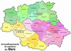Carte Du Gers Détaillée : liste des cantons du gers wikip dia ~ Maxctalentgroup.com Avis de Voitures