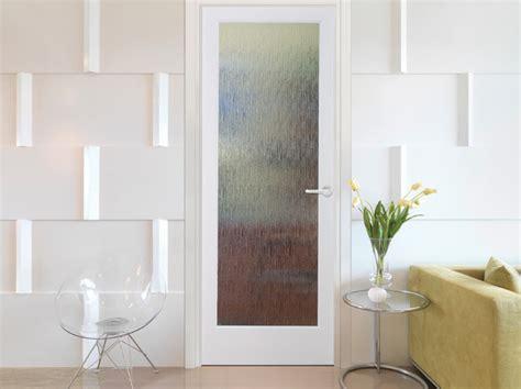 rainy day decorative interior glass door modern living