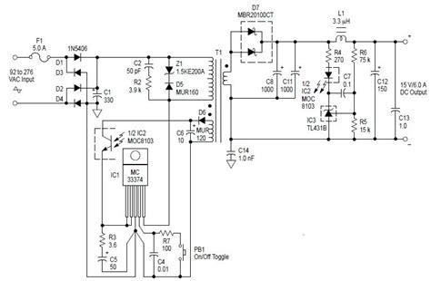 ac to dc 90w switching adaptor power audio wiring diagram