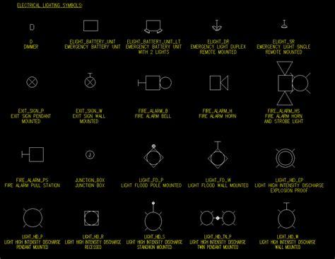 key drop box elec lighting symbols