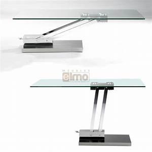 Table Basse Reglable Hauteur : table basse rectangulaire plateau verre hauteur r glable bravo ~ Carolinahurricanesstore.com Idées de Décoration