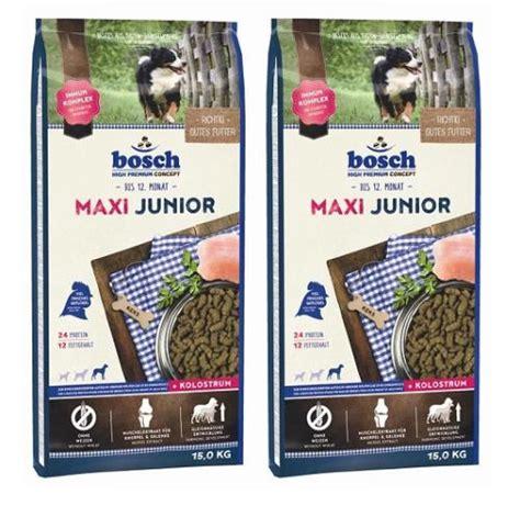 bosch maxi junior 15 kg 2 x 15 kg bosch maxi junior hundefutter f 252 r welpen gro 223 er