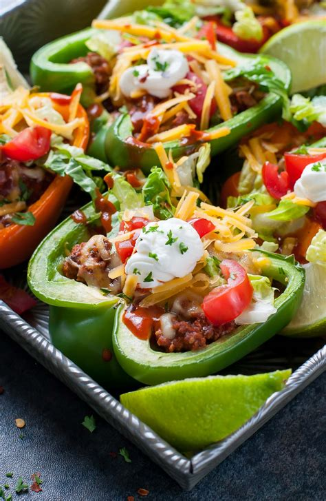 bell pepper tacos baked recipe peppers taco recipes stuffed vegan peasandcrayons night level these clean twist later take peas crayons