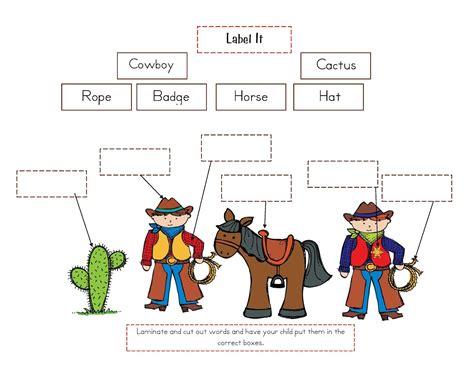 preschool printables cowboy themes misc preschool 405 | 9a789c6f006bf7dc273a6d87b5b7571a