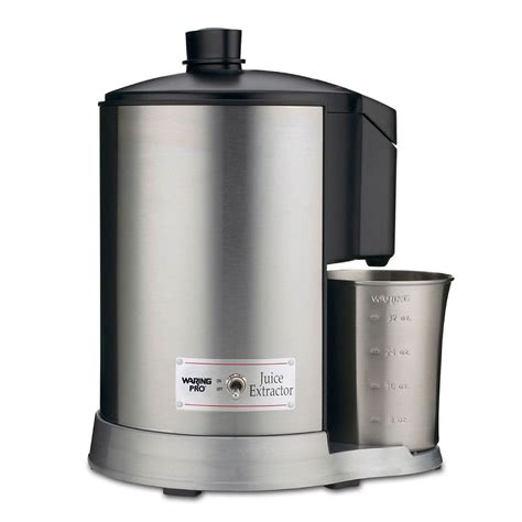 pulp juice extractor waring katom brushed stainless juicer dry