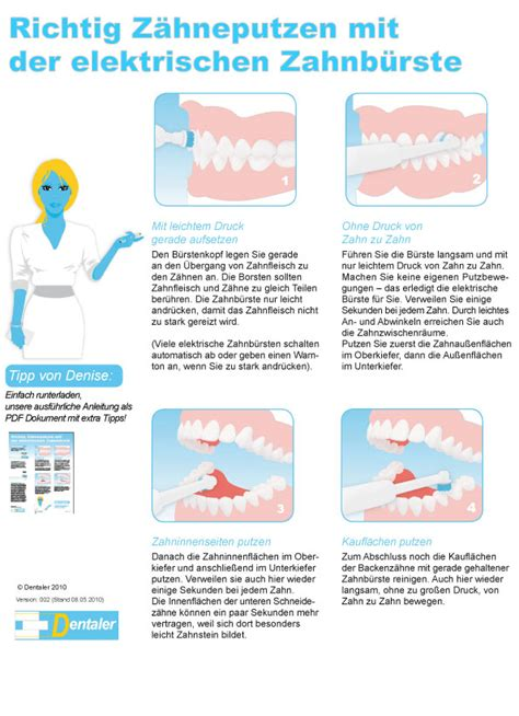 Wie Putze Ich Richtig by Mit Einer Elektrischen Zahnb 252 Rste Dentaler