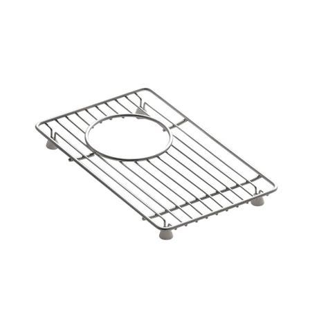 stainless steel sink rack kohler indio 11 4 in x 7 in small sink basin rack in
