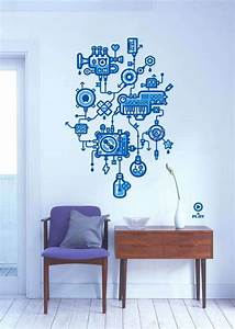 Decorative stylish and creative stickers for wall decor
