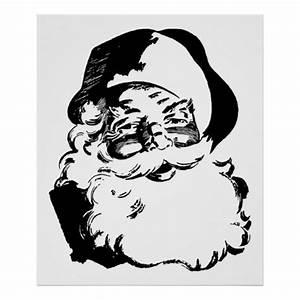 Noel Noir Et Blanc : r tro no l noir et blanc vintage le p re no l posters zazzle ~ Melissatoandfro.com Idées de Décoration